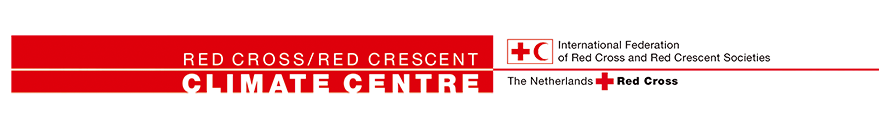 Combined Logo of Red Cross/Red Crescent Climate Centre, International Federation of Red Cross and Red Crescent Societies, The Netherlands Red Cross.