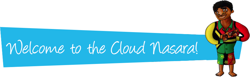 Title banner with Welcome to the Welcome to the Cloud Nasara!